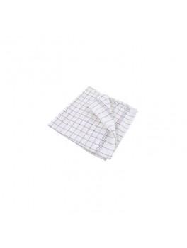 Viskestykke bomuld blåternet (50x100)-20