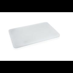 Skærebræt hvid plast
